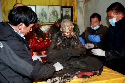 Mummy of Chinese monk Fuhou