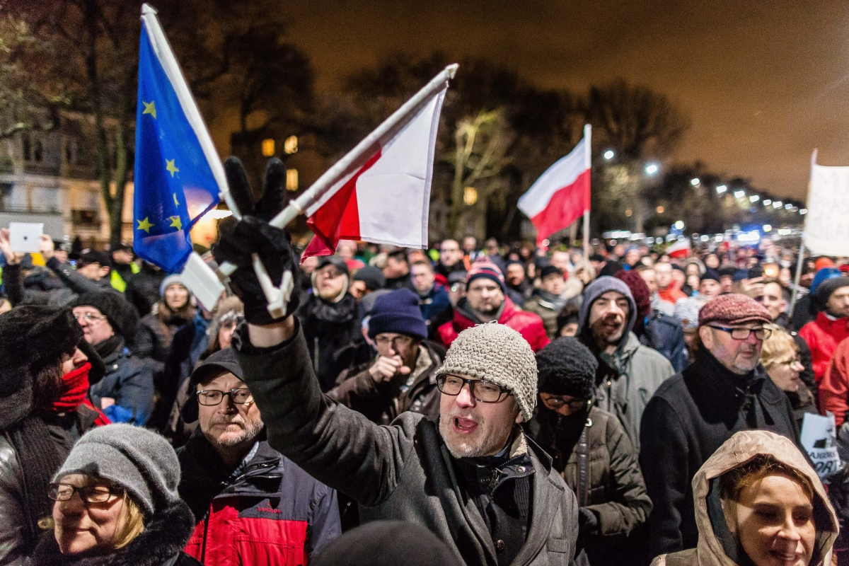 poland anti-government protests