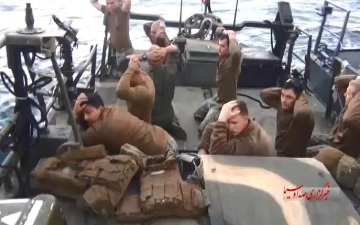US soldiers in Iranian waters