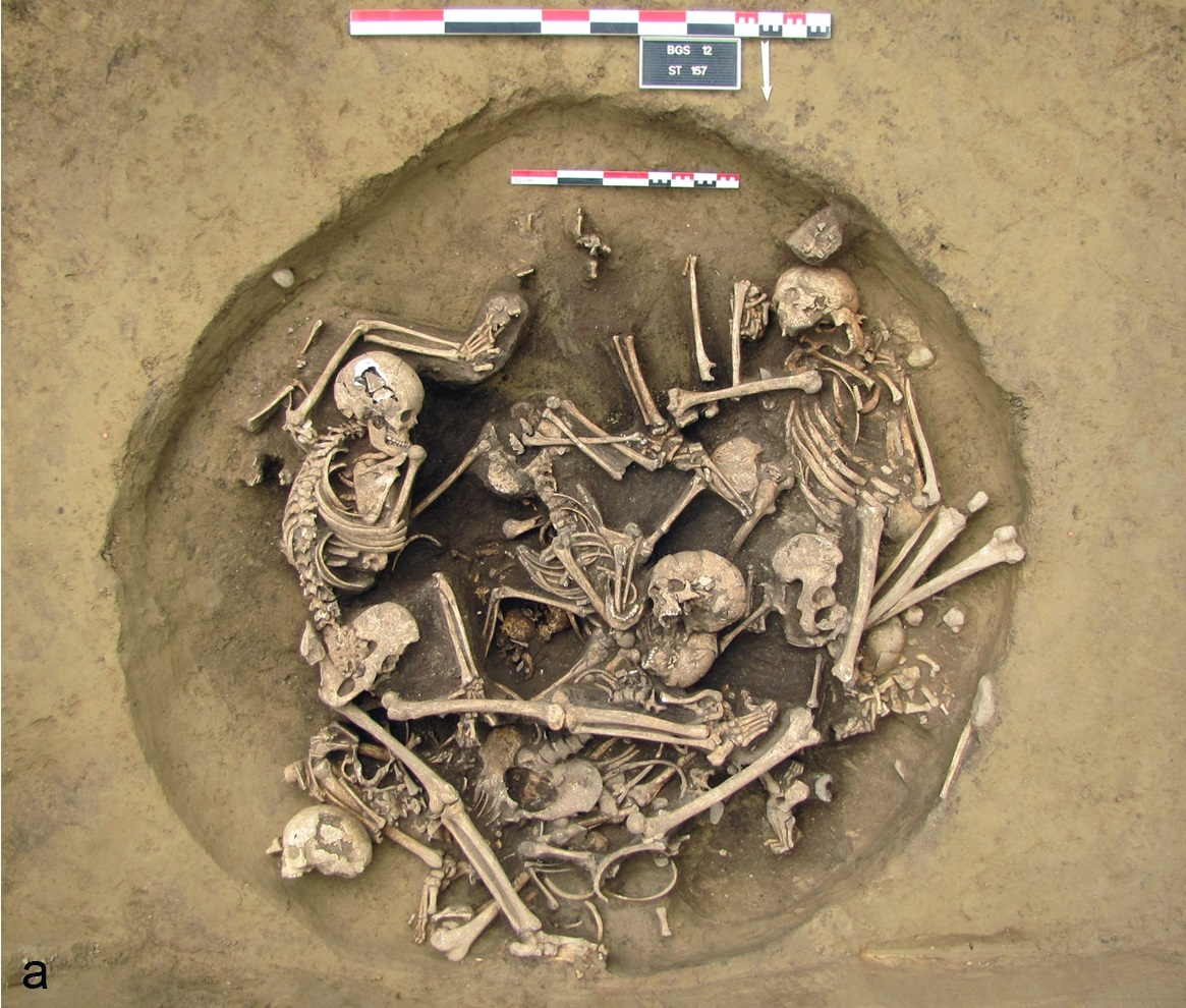 burial pit severed arms