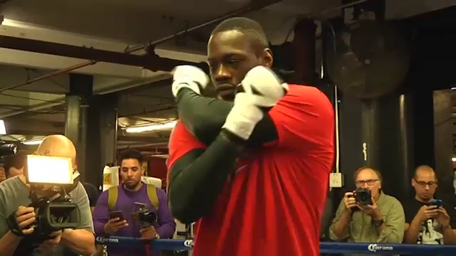 Deontay Wilder sparring