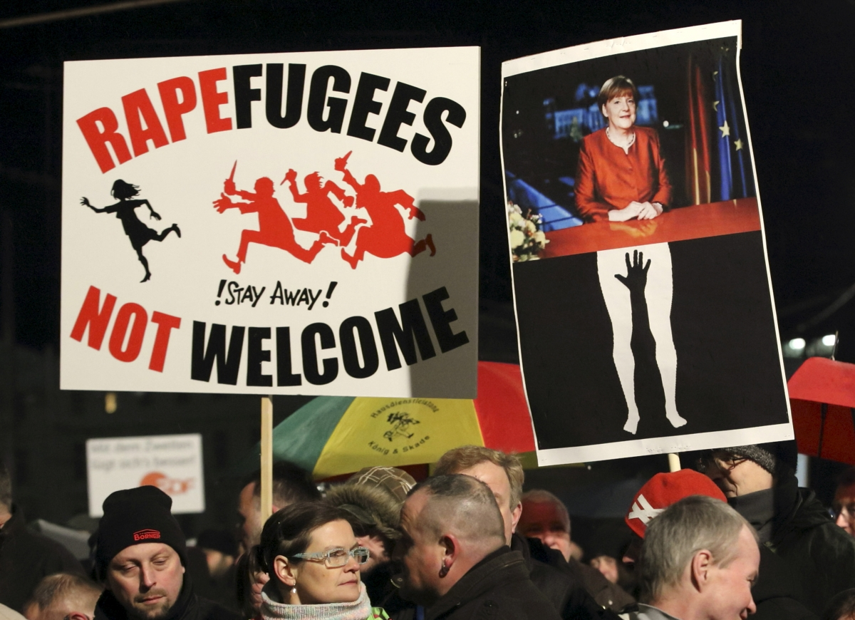 migrant sex attack protests Germany
