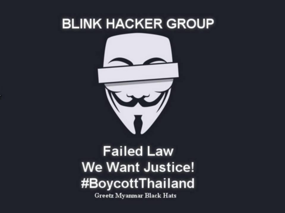 Anonymous Thai websites hack