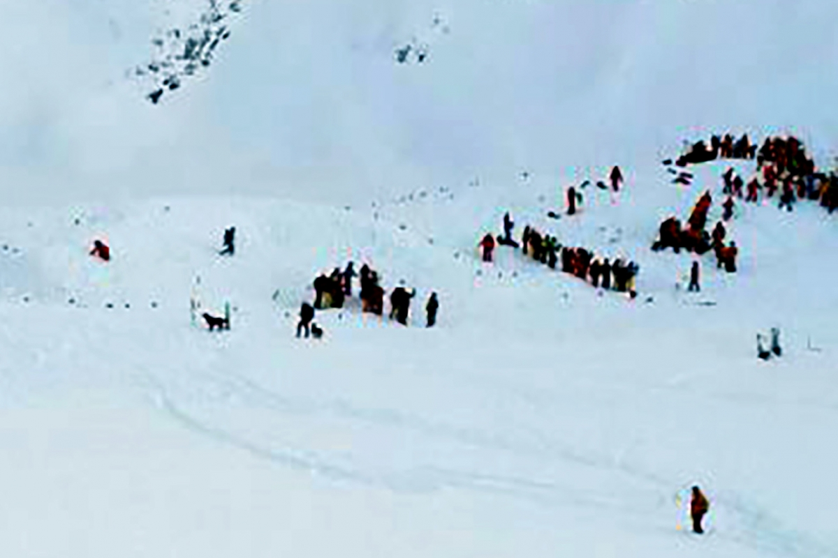 French Alps avalanche