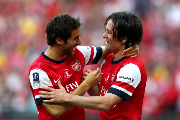 Tomas Rosicky and Mathieu Flamini