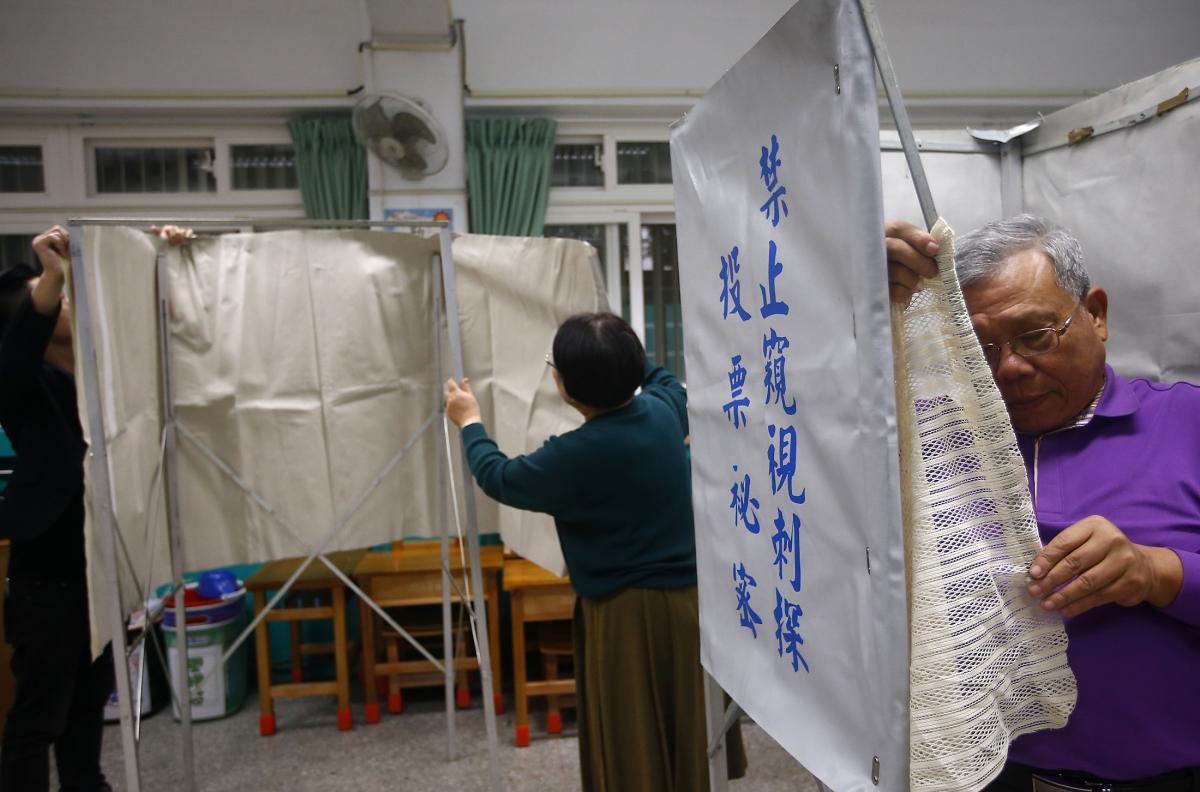 Taipei polling station