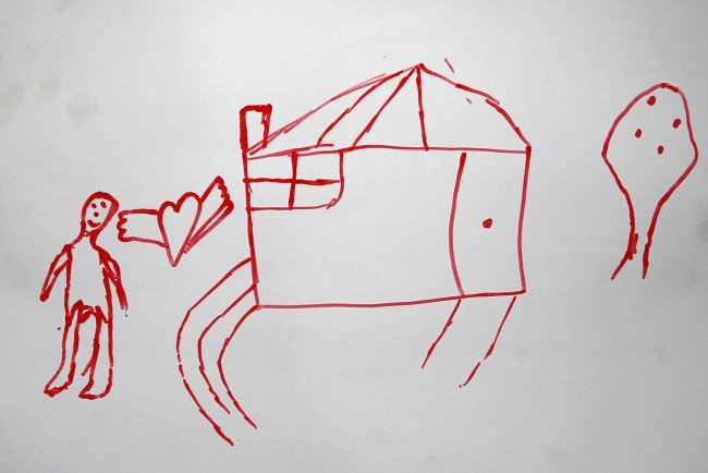 Heartbreaking drawings of home by Syrian children living in