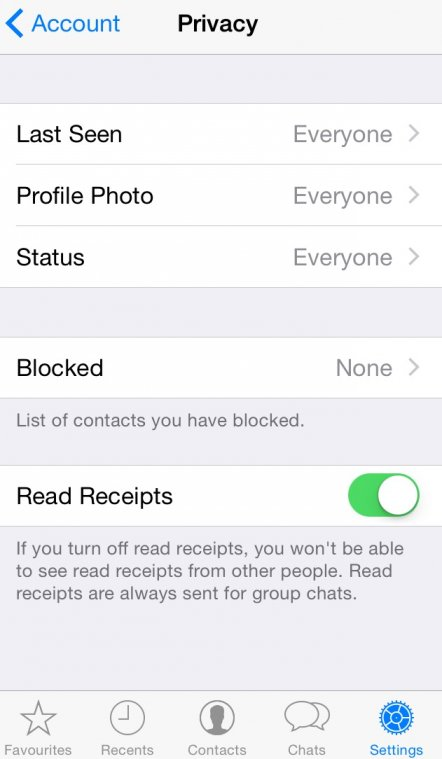 WhatsApp blue tick trick