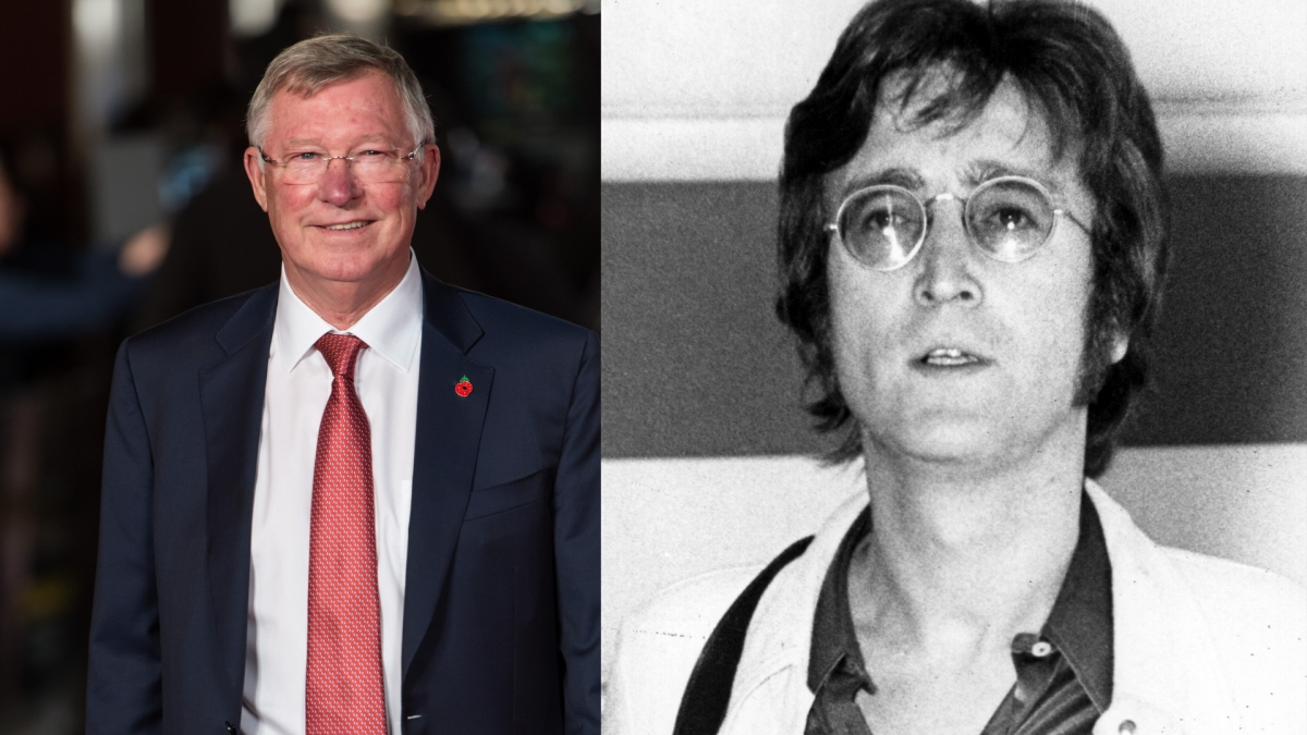 Sir Alex Ferguson and John Lennon.