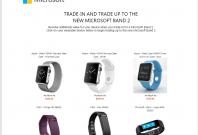 Microsoft trade-in program for Band 2