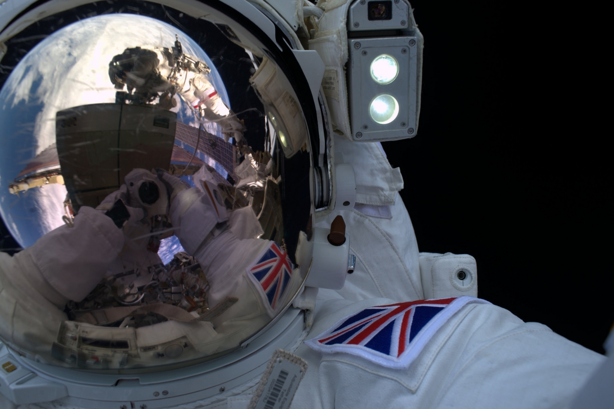 Tim Peake space selfie