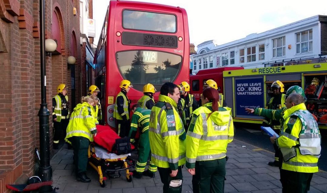 Enfield car and bus crash