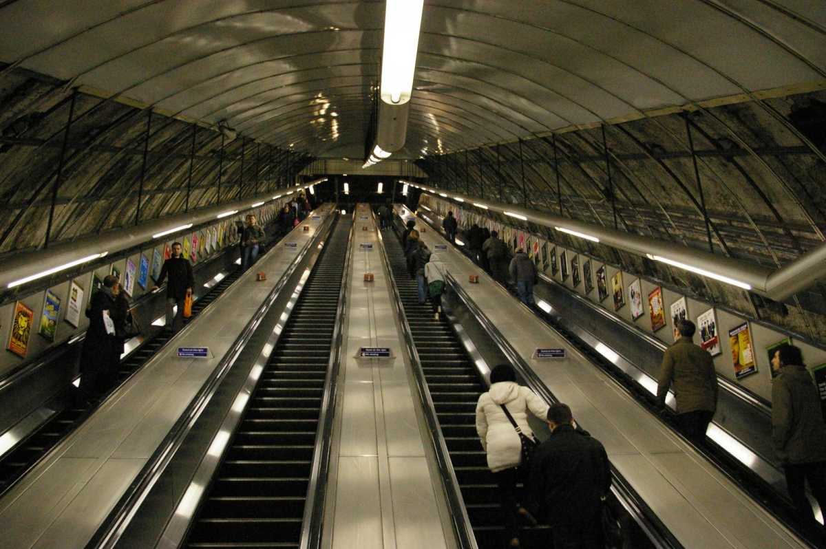 Holborn London Underground escalators