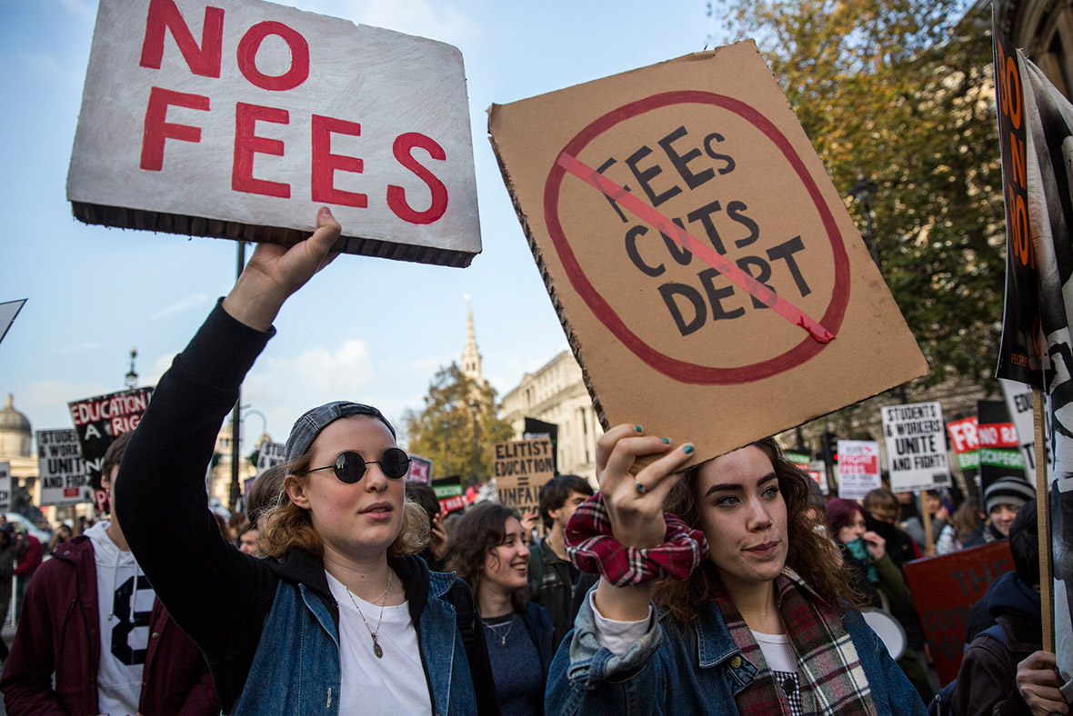 University fees and cuts protest