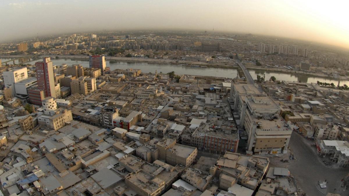 Baghdad aerial shot
