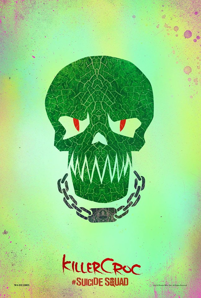 Killer Croc Suicide Squad movie poster