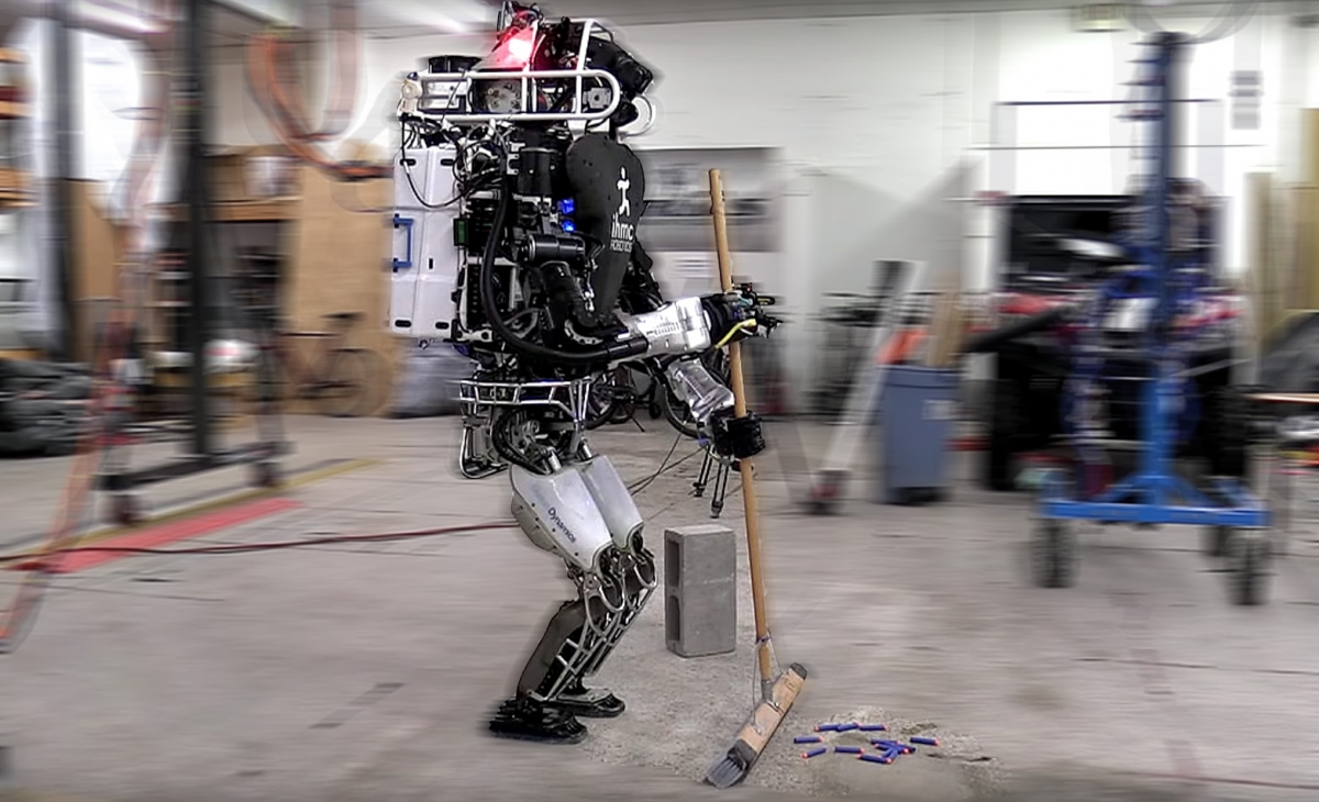 Atlas robot can now sweep the floor