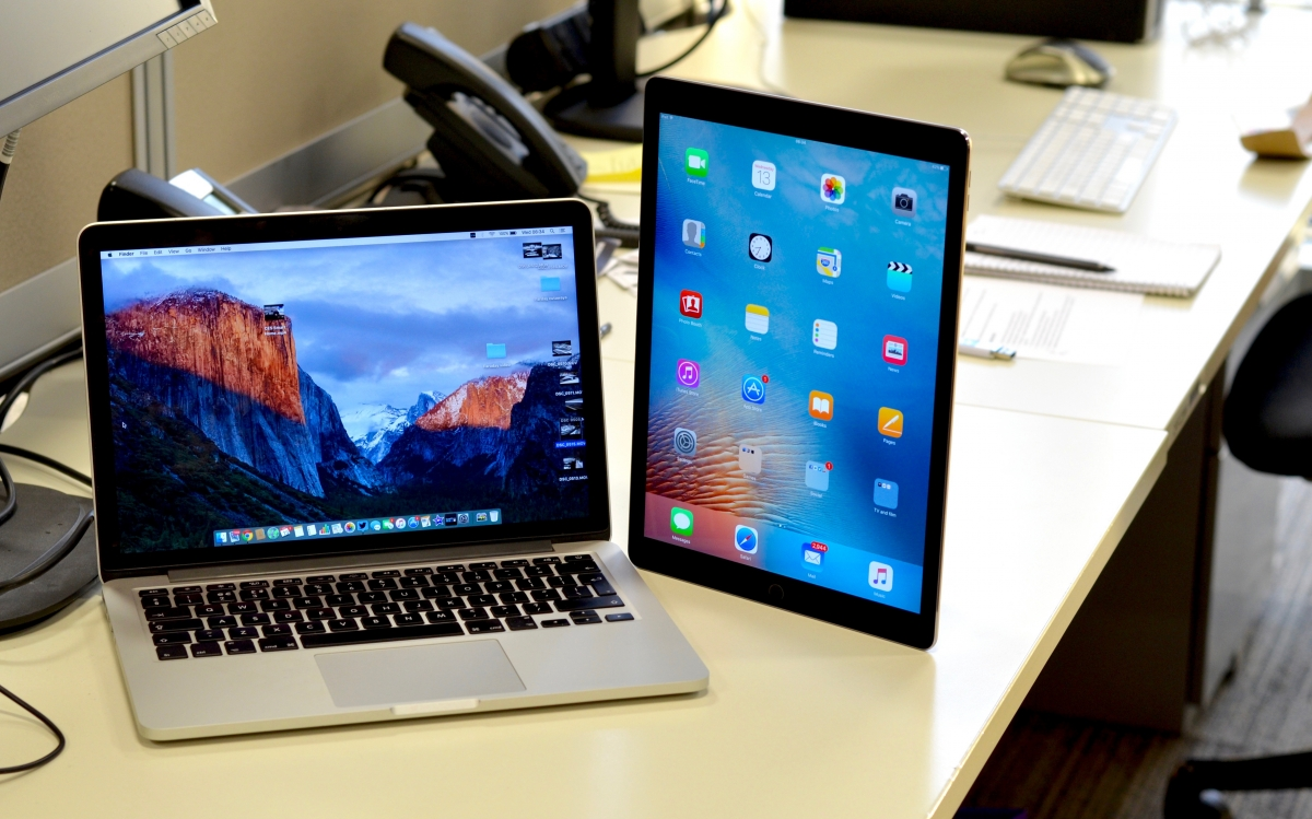 Apple iPad Pro with MacBook Pro