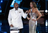 Steve Harvey and Miss Colombia