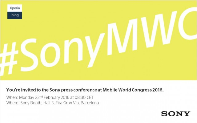 MWC 2016: Sony press invite