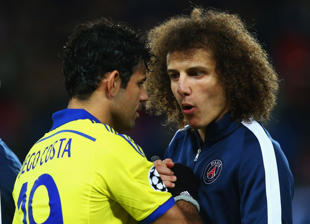 Diego Costa and David Luiz