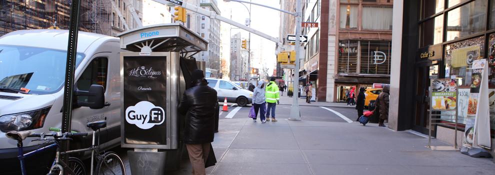 GuyFi - Wi-Fi masturbation booths in NewYork