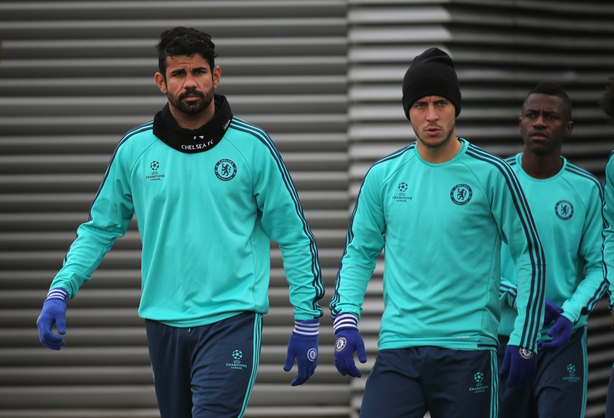 Diego Costa and Eden Hazard