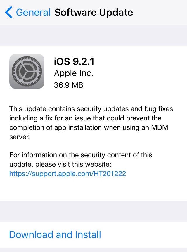 iOS 9.2.1 final
