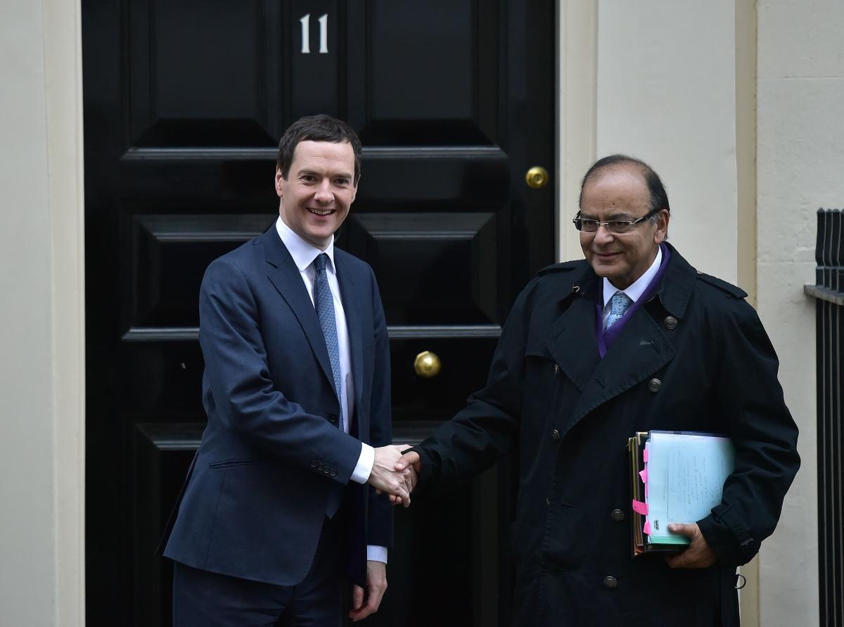 George Osborne and Arun Jaitley