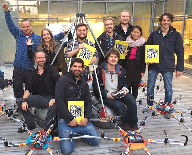 University of Oslo team celebrate setting a Guinness World Record