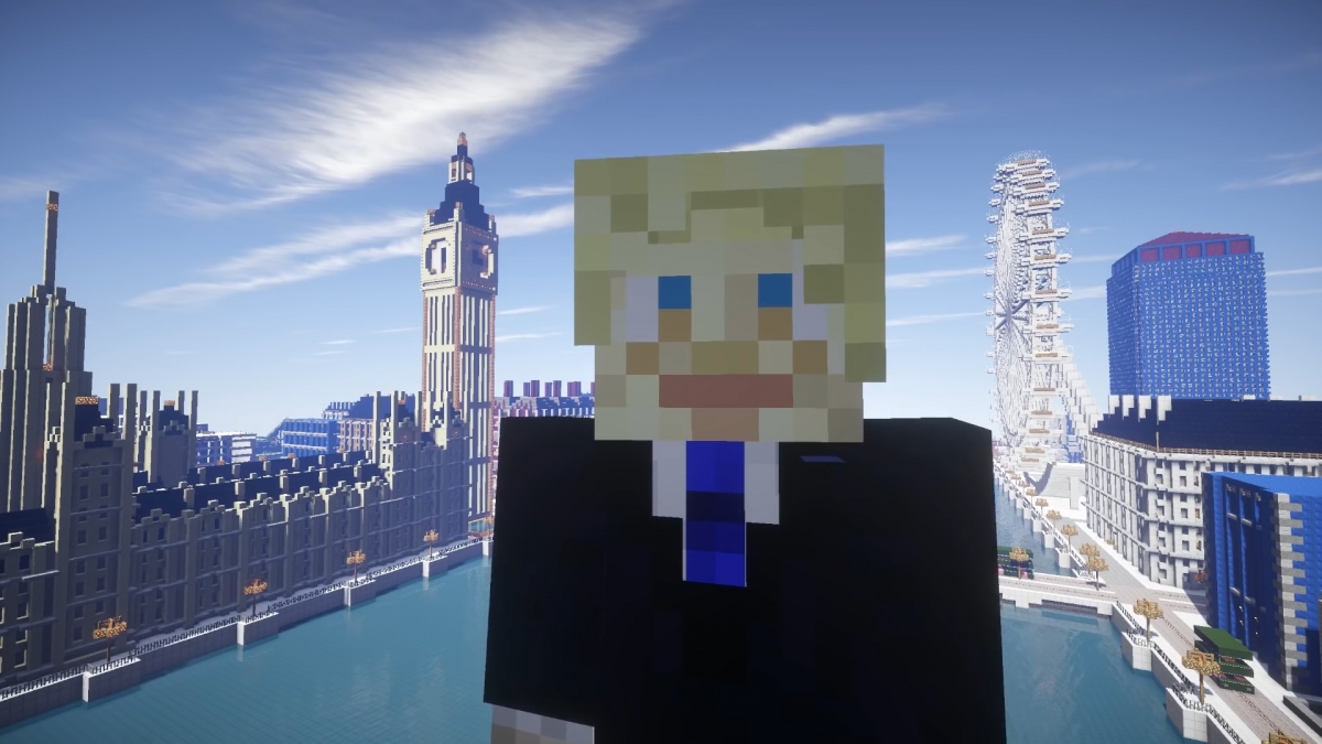 Minecraft Boris Johnson
