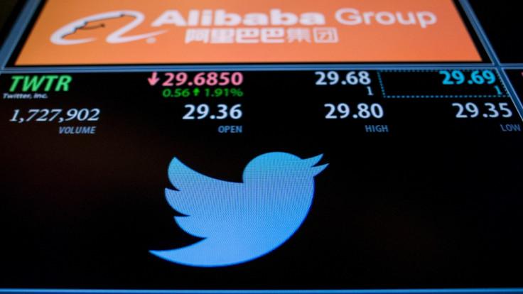 Twitter ticker, New York Stock Exchange