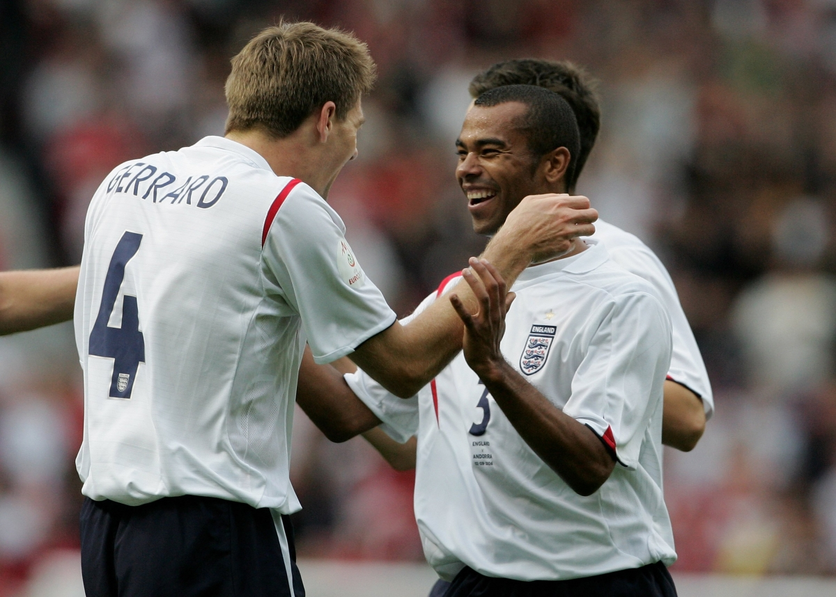 Steven Gerrard and Ashley Cole