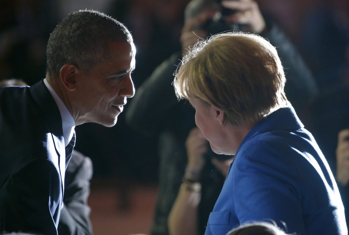 Barack Obama & Angela Merkel