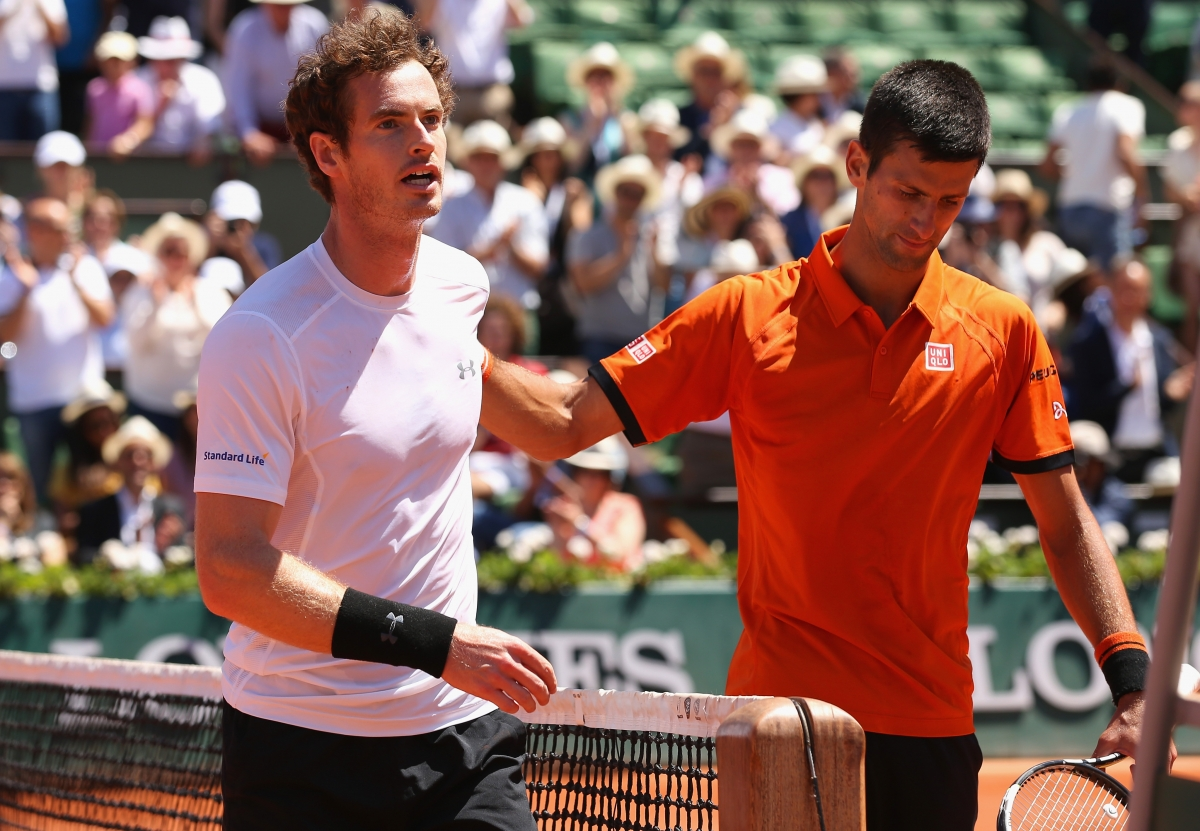 Andy Murray (left) and Novak Djokovic