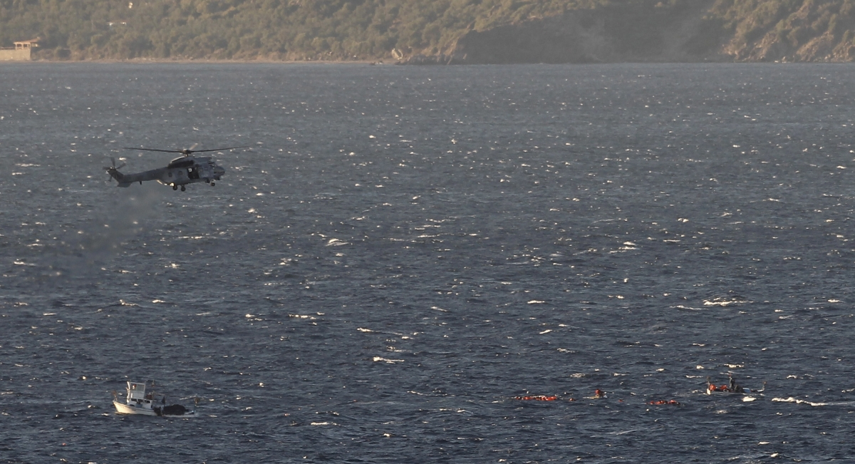 Greek Coast Guard helicopter