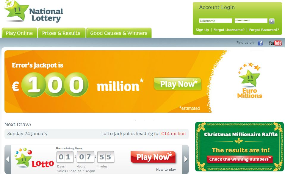 Irish Lottery website hit by DDoS attack