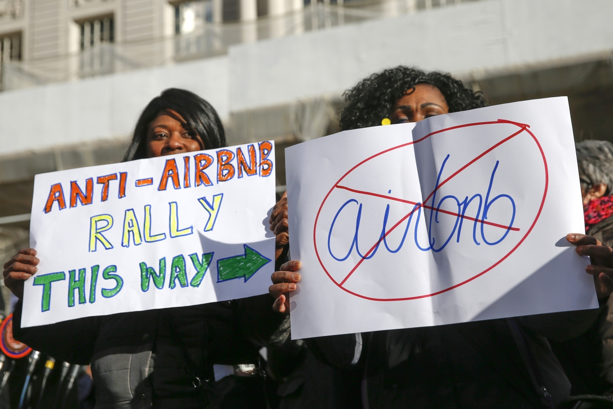 Anti-Airbnb protests