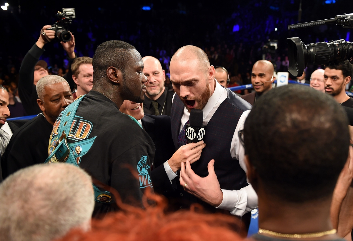 Deontay Wilder (left) and Tyson Fury