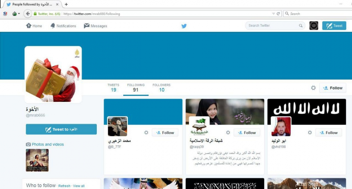 A multitude of pro-Isis Twitter accounts