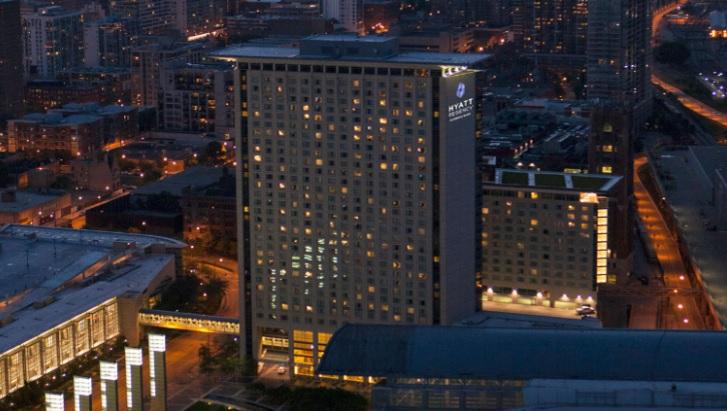 Hyatt Regency Hotel in Chicago's McCormick place