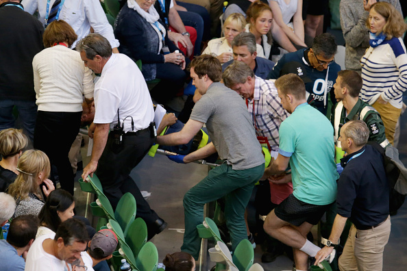 Nigel Sears collapses at Australian open