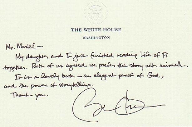 Obama's handwriting