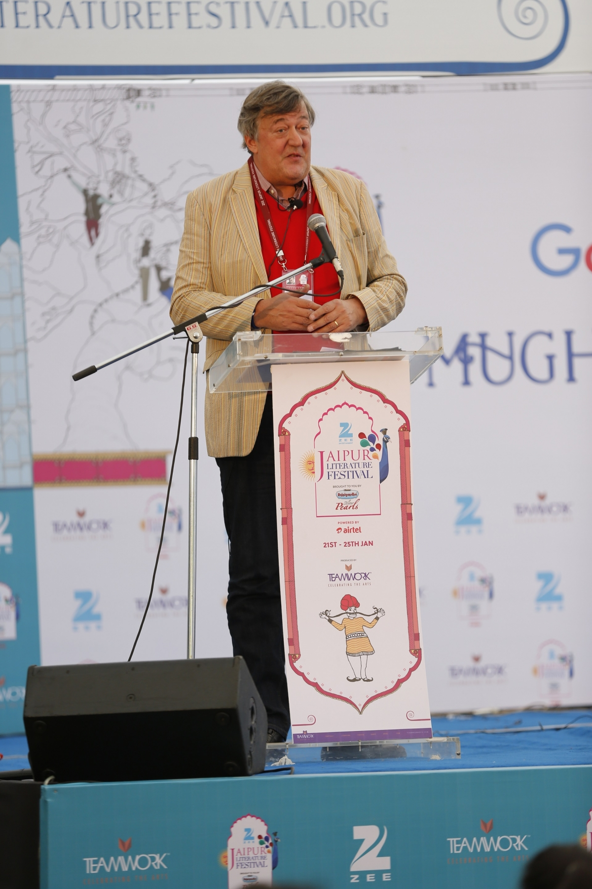 Stephen Fry at Jaipur Literature Festival