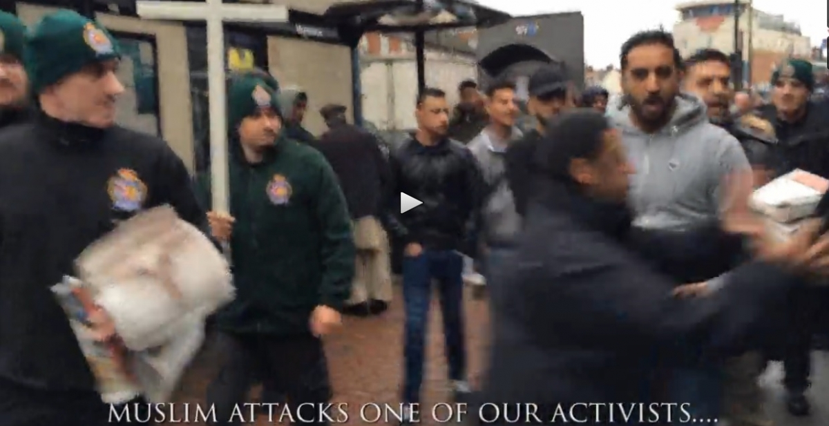 britain first video luton islam