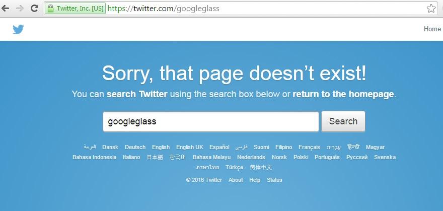 Google Glass Twitter account error