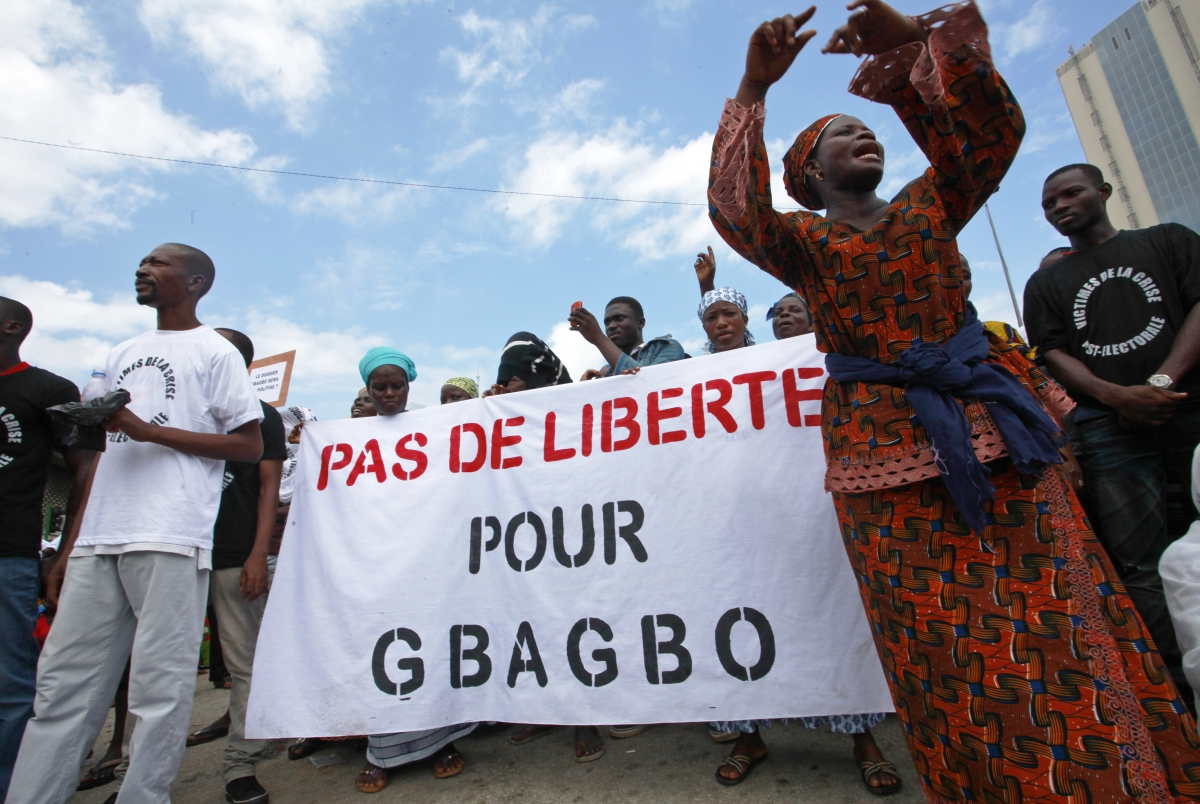 Protest against Ivory Coast's Laurent Gbagbo