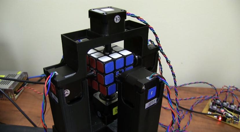 World's fastest Rubik's Cube solving robot