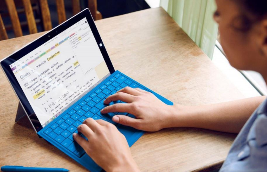 Taking note on Surface tablet