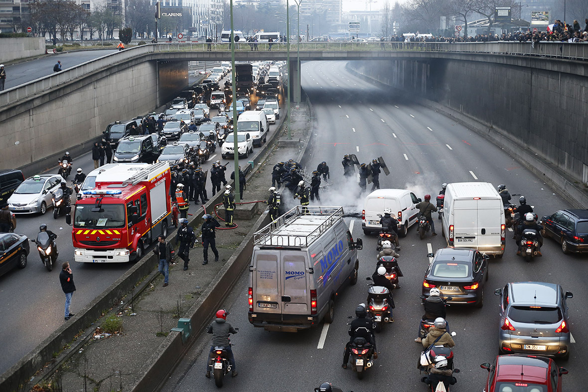 France taxi strike